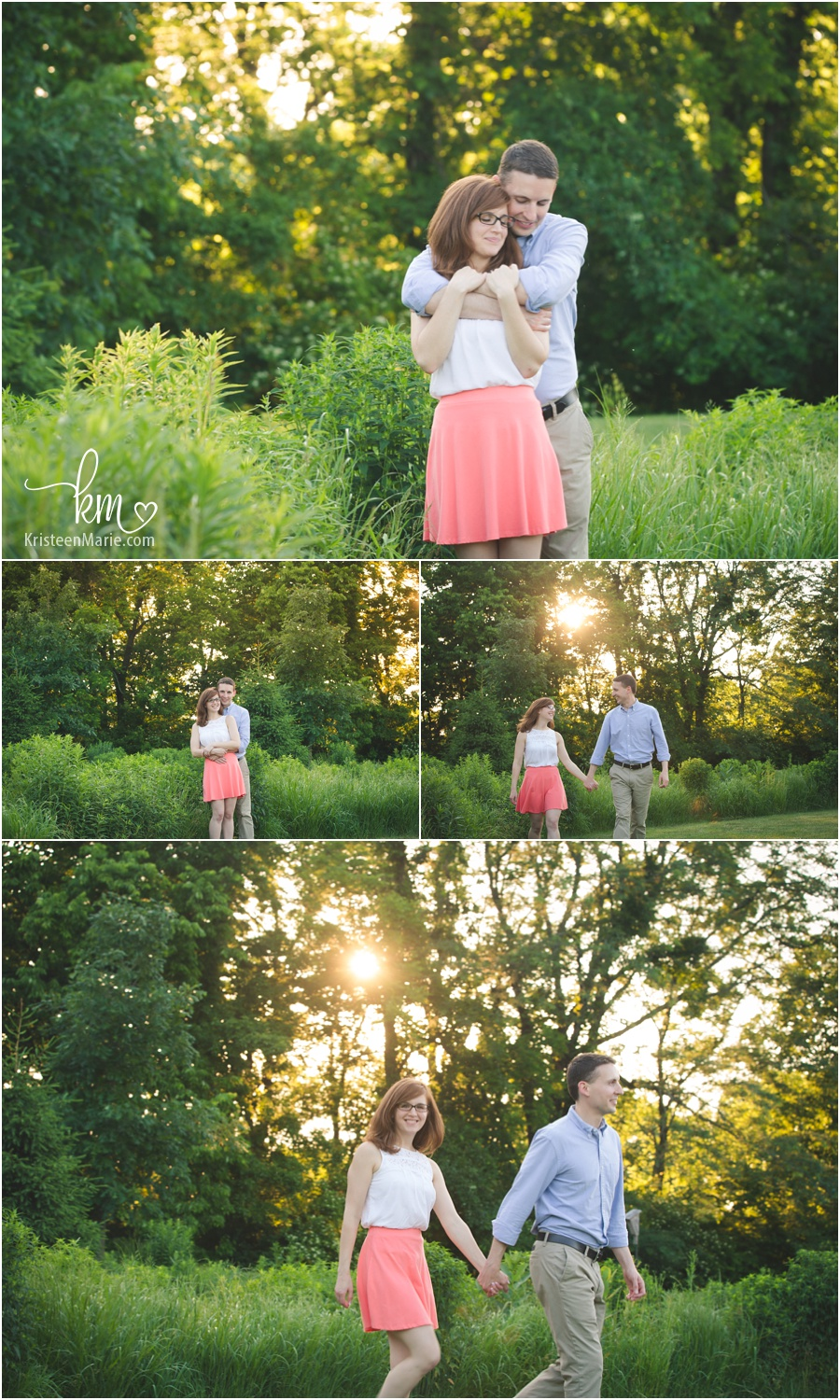 Avon Town Hall Park Engagement Photography