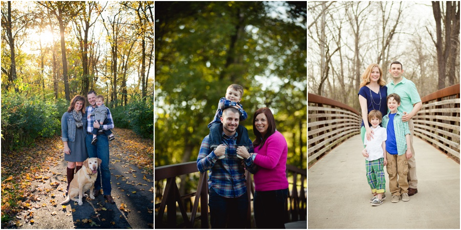 Family pictures in Indianapolis for Fall by KristeenMarie Photography