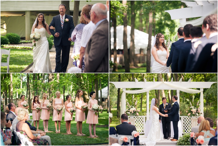 Oak Hill Mansion Wedding Ceremony Outdoors