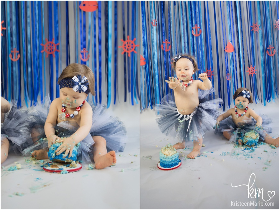 twin girl cake smash