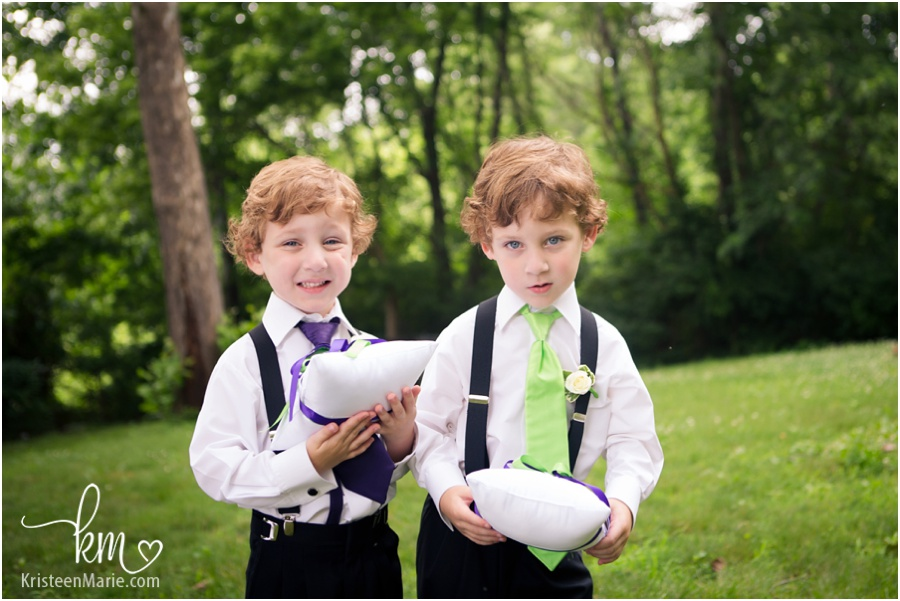 adorable red headed ring bearers