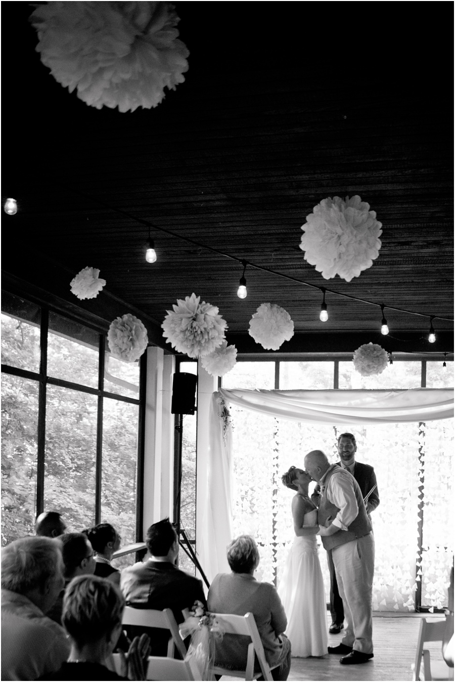 wedding ceremony at Chinese House at Conner Prairie