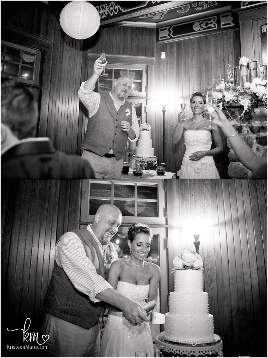 toasts and cake cutting