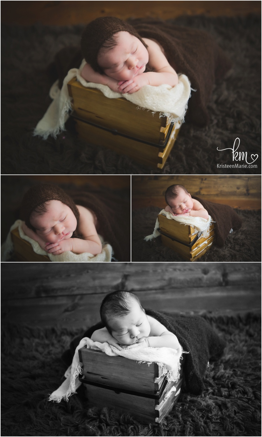 newborn boy in a basket