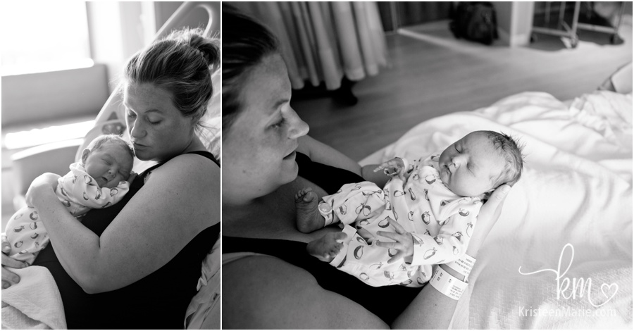 black and white birth photography
