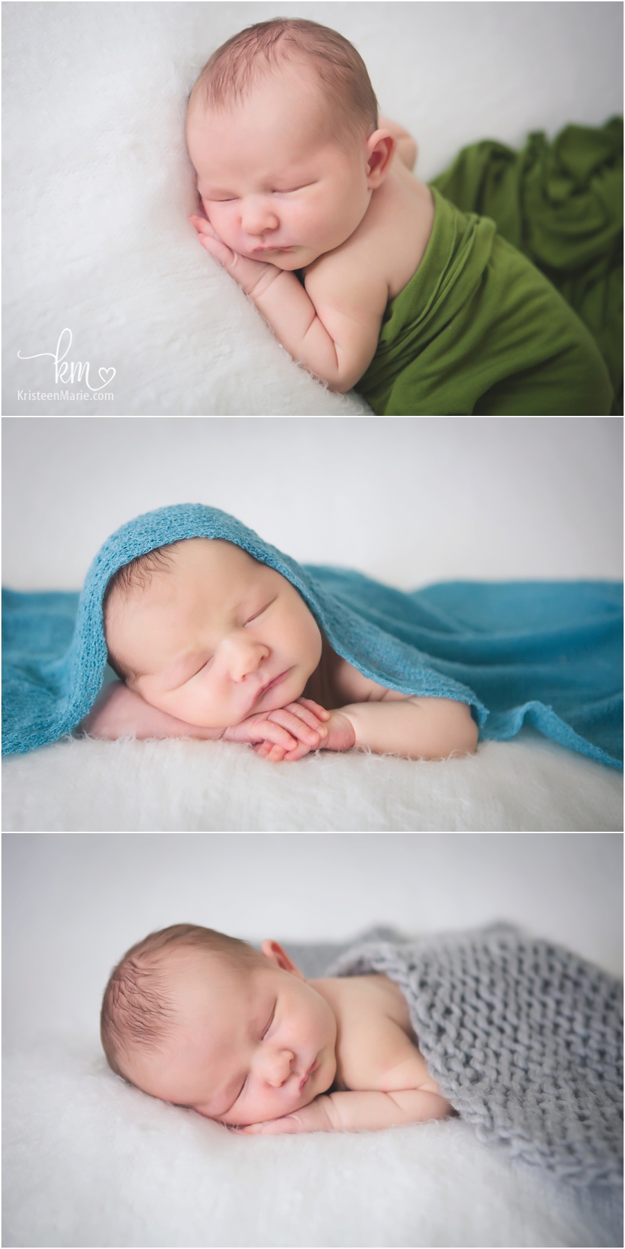 adorable newborn pictures with different colors