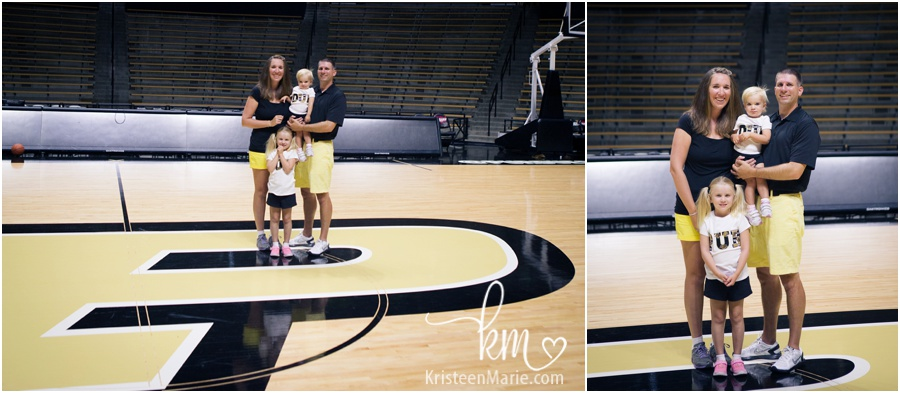 family pictures inside mackey arena