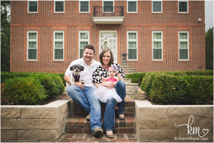 Family photography session at Coxhall Garden