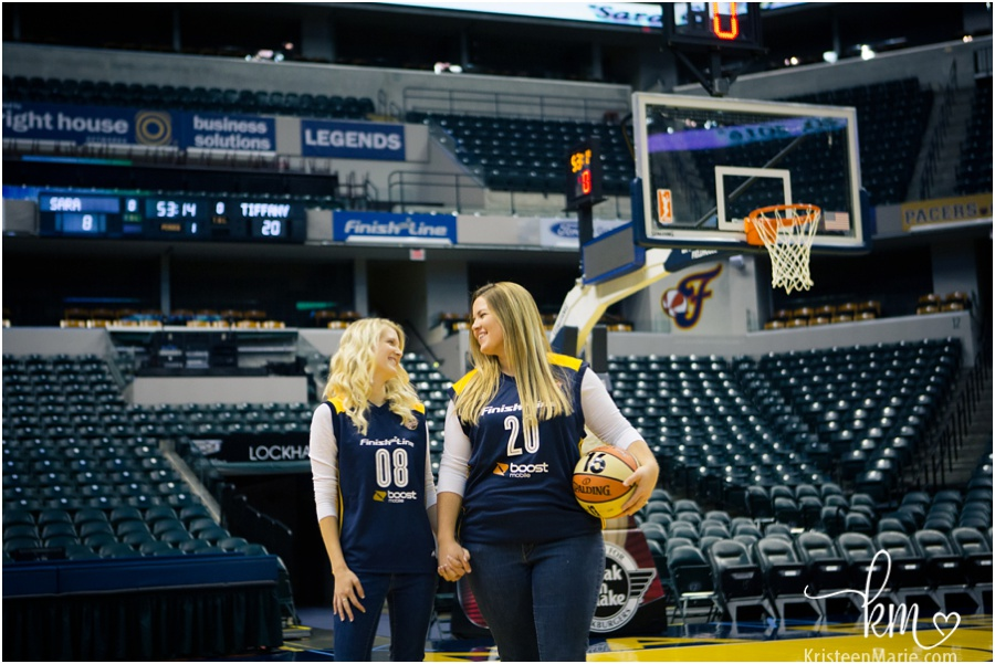 Bankers Life Fieldhouse Engagement Photography