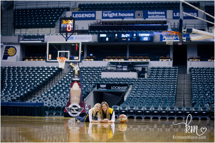 Engagement session at Bankers Life Fieldhouse