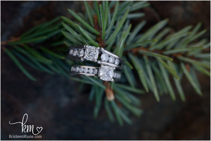 two engagement rings - same sex couple