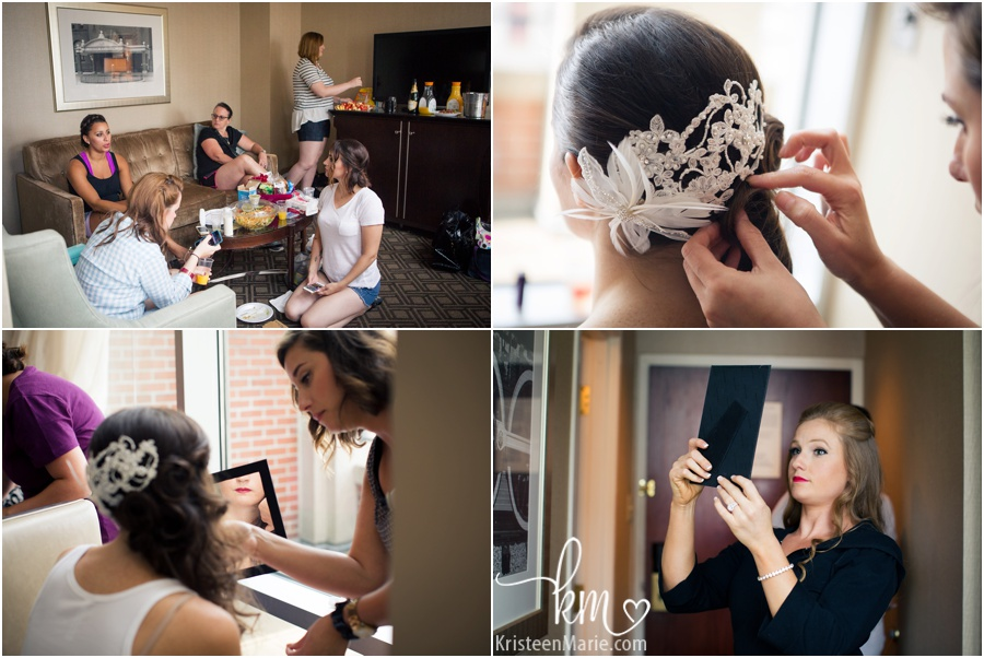 bride getting ready - hair and makeup