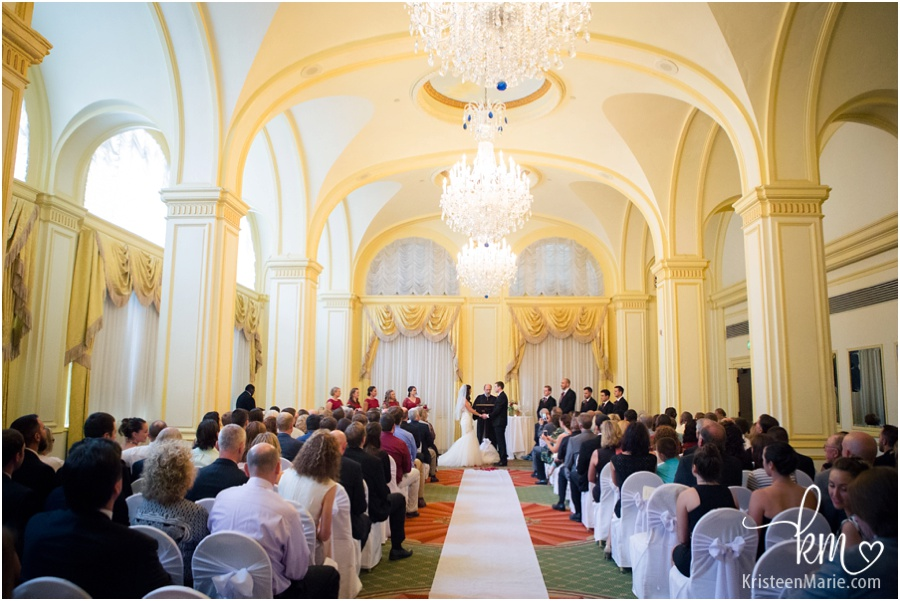 Wedding at Omni Severin Hotel in Indianapolis, IN
