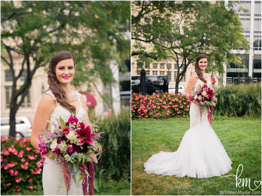 stunning Indianapolis bride