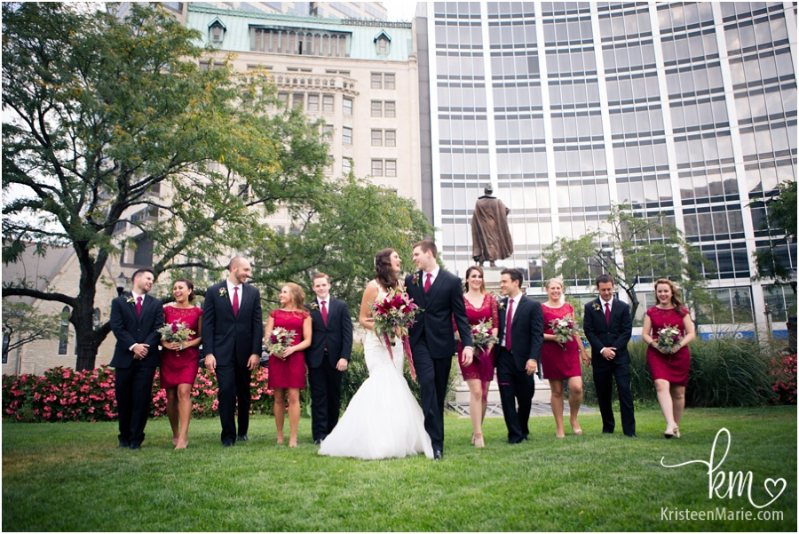 bridal party downtown Indianapolis, IN