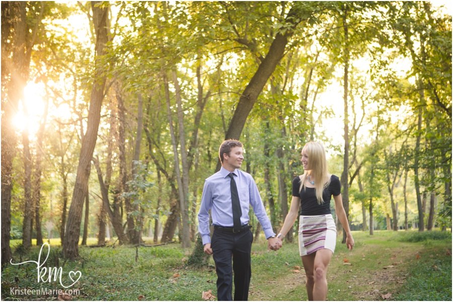 beautifully backlit engagement picture