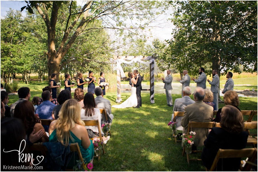 wedding ceremony at Morgan Acres