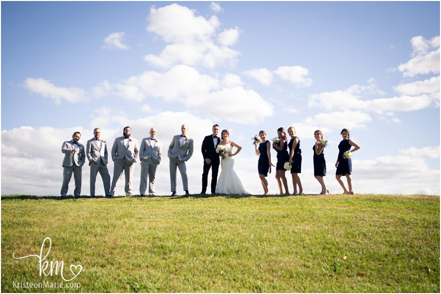 bridal party at Moran Acres