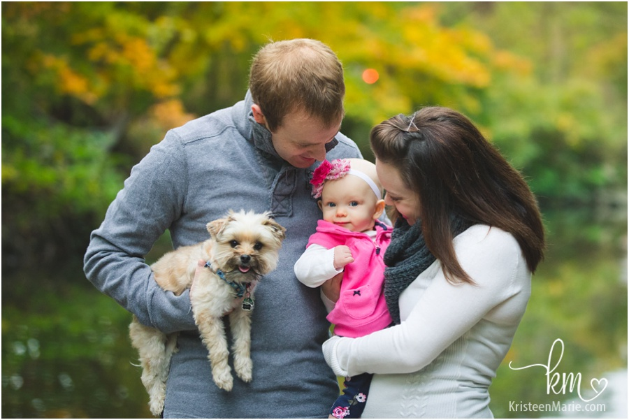 Carmel, Indiana family having pictures taken by KristeenMarie Photography