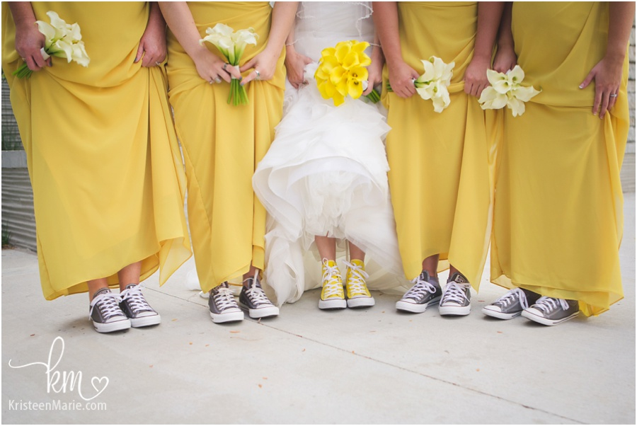 flowers and shoes - Converse shoes on wedding day