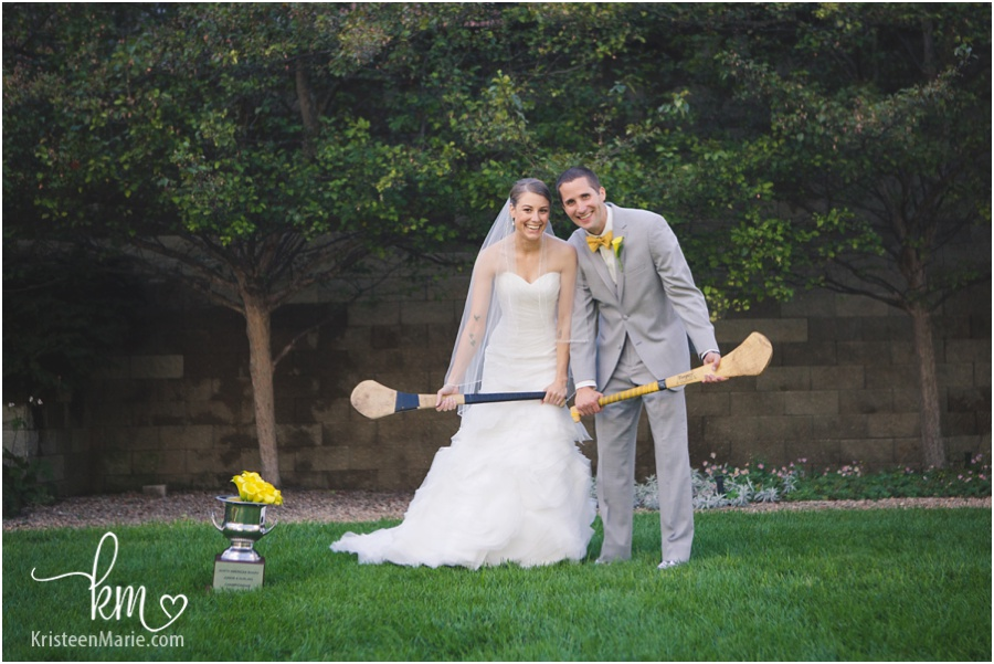 Hurling wedding picture