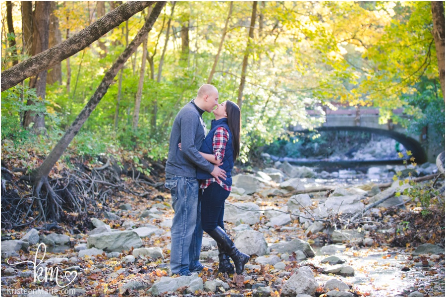 Fall Engagement Session At Fort Harrison State Park