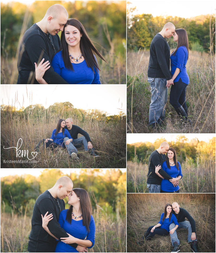 Fall engagement photography in Indianapolis, IN