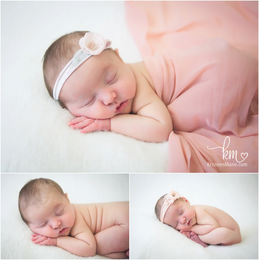 pink and cream - newborn photography