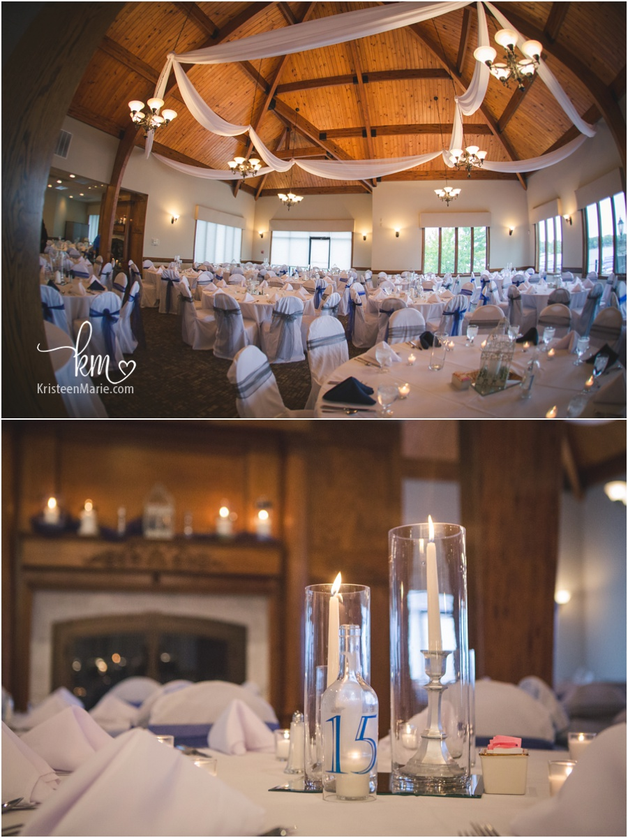 Inside the Indianapolis Yacht Club for a wedding