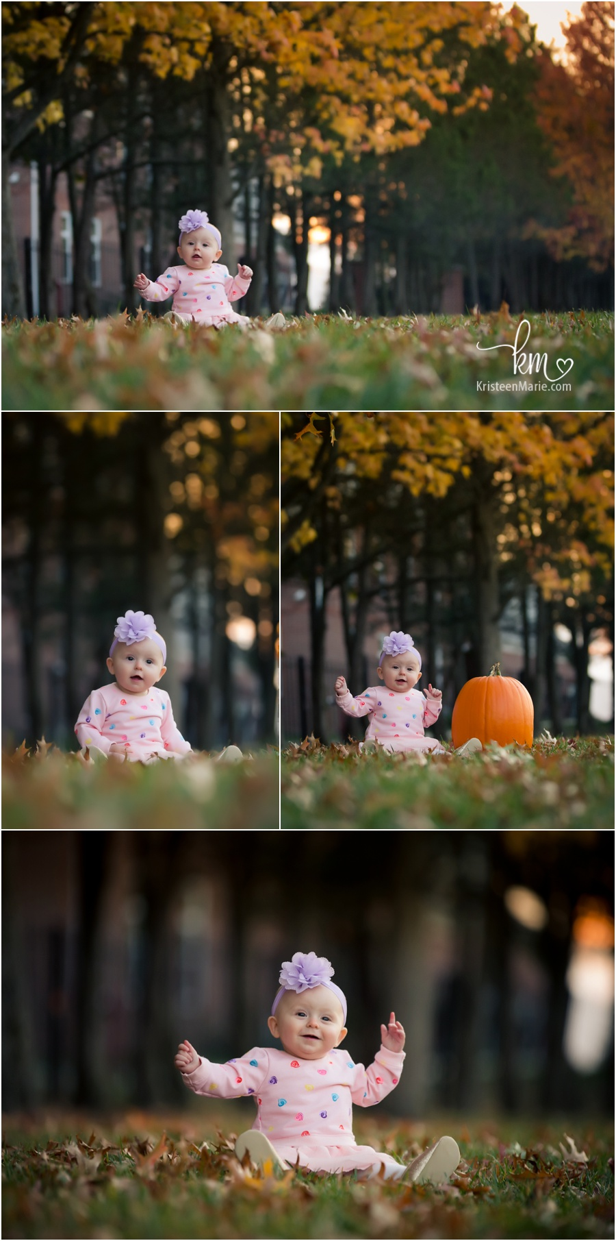 little girl with Pumpkin