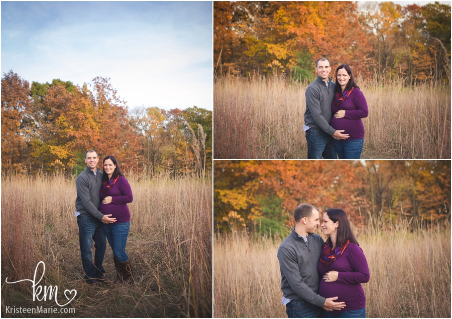 expecting couple during Fall