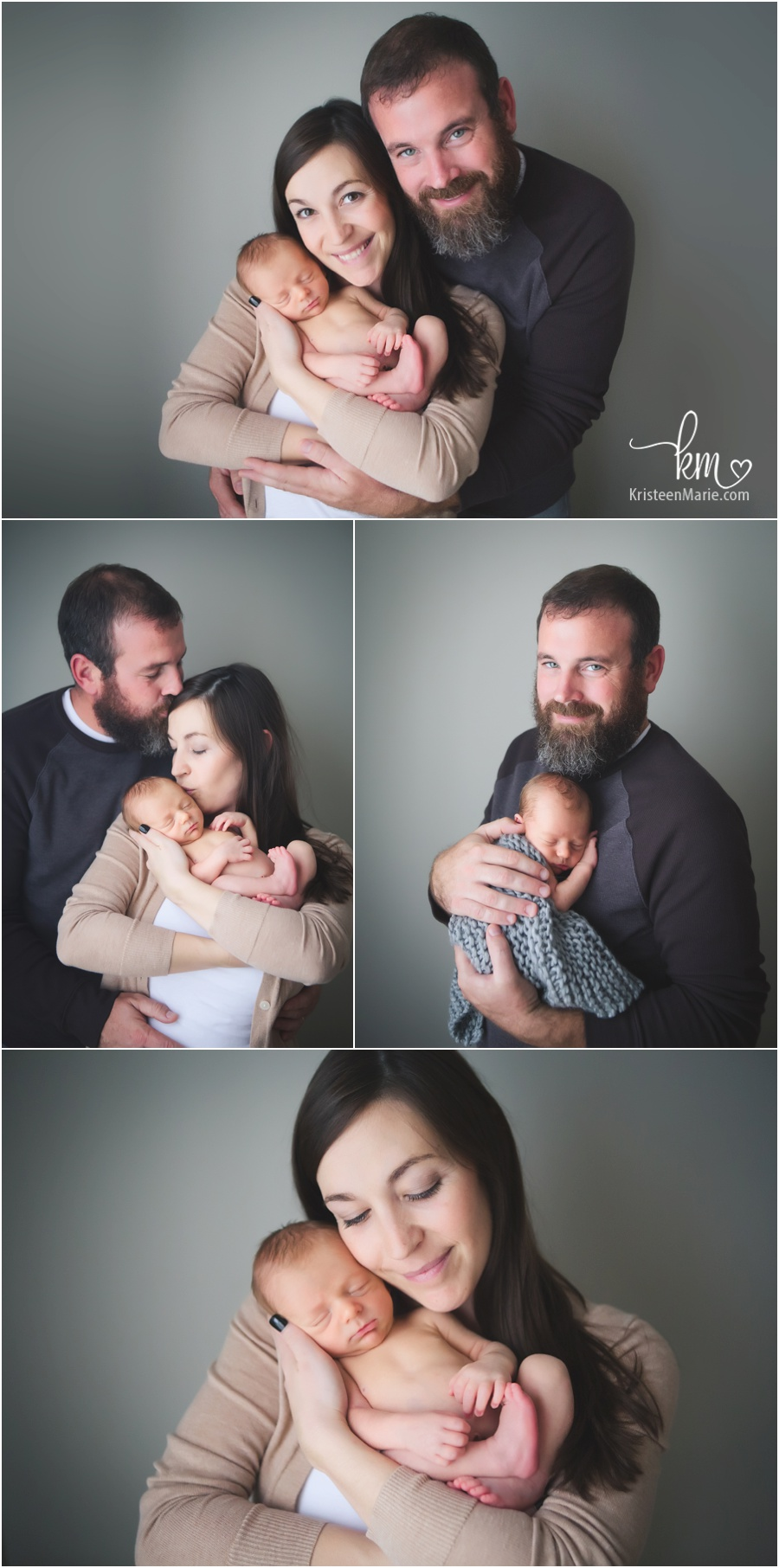 family photography poses with newborn baby - Family from Noblesville, IN
