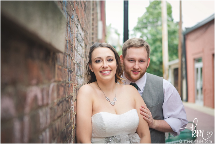 wedding photography in downtown Noblesville