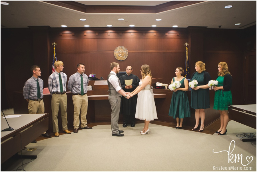 Noblesville, IN Courthouse wedding ceremony