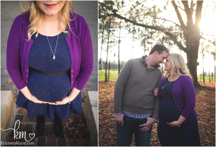 sunset maternity photography