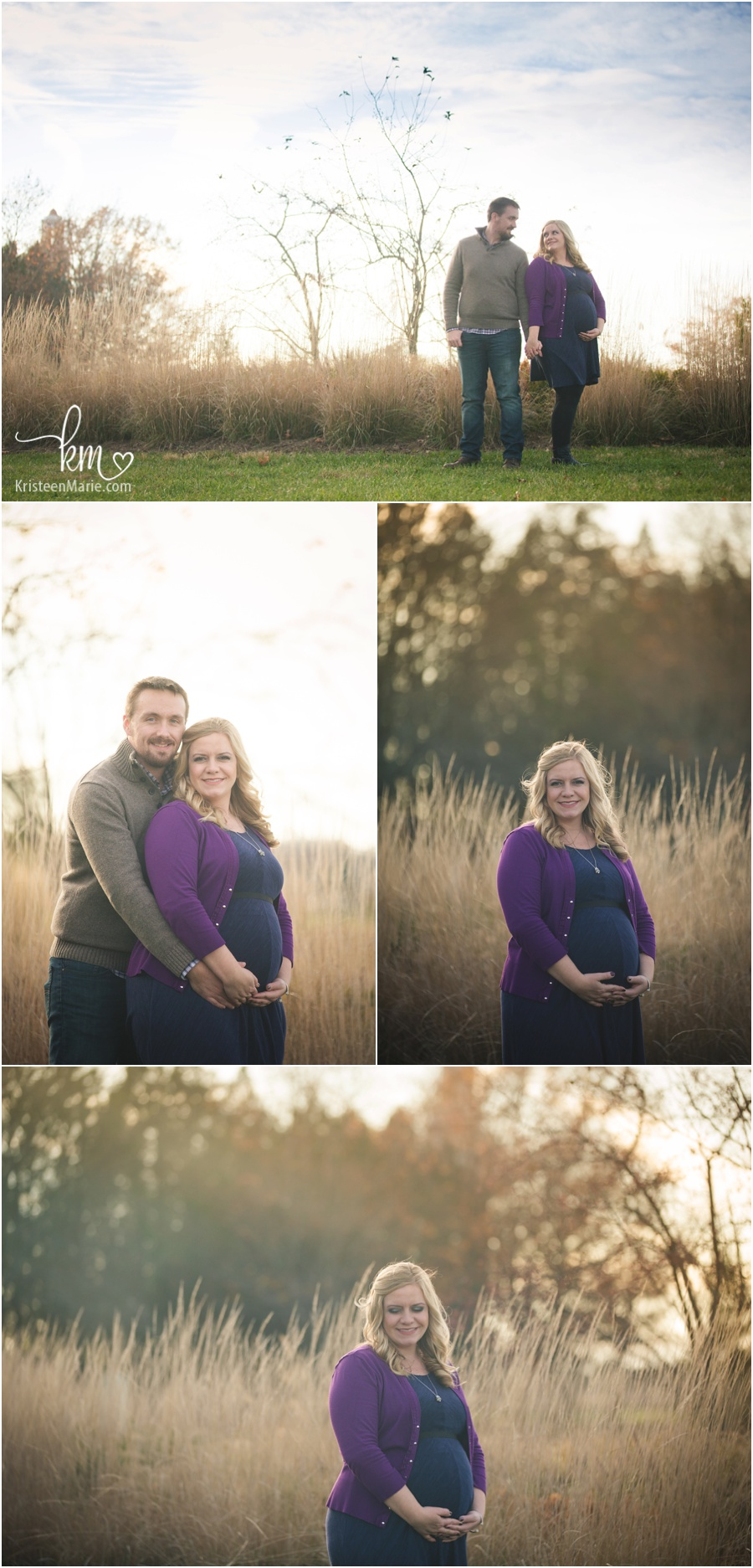 Fall maternity session in Carmel, IN by KristeenMarie Photography