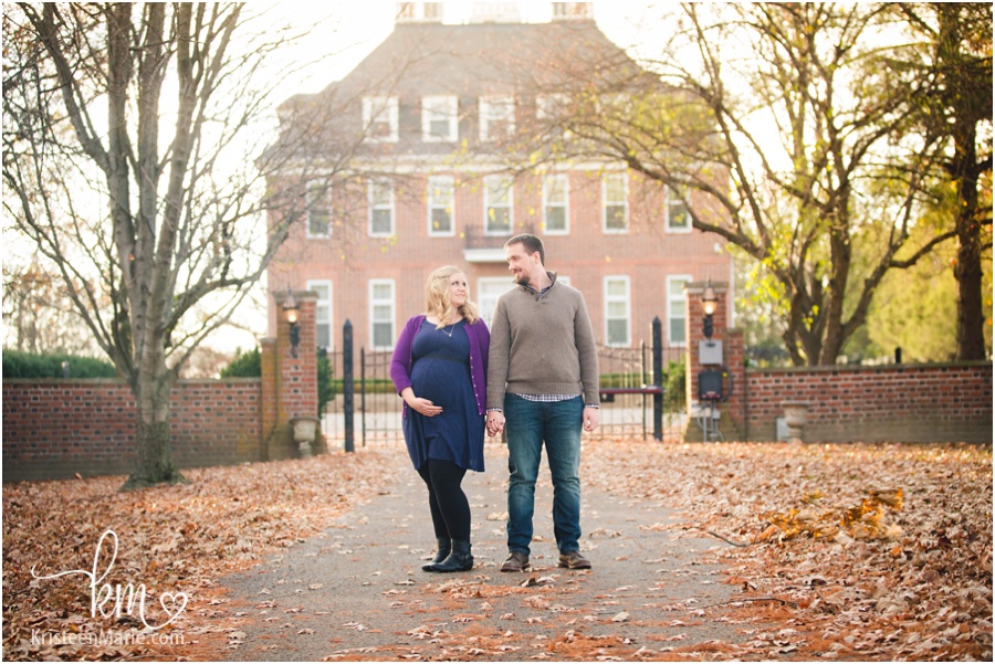 Fall maternity session in Carmel, IN