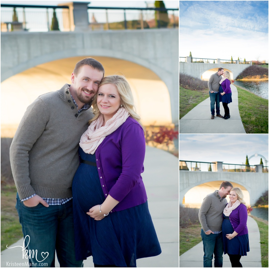 maternity pictures by bridge