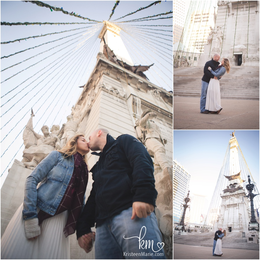 downtown Indianapolis couple photography