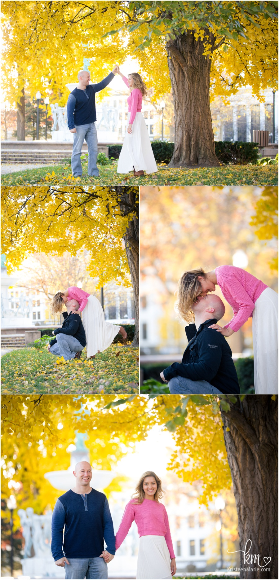 Fall couple photogrphy - fall colors for engagement or copule photography session