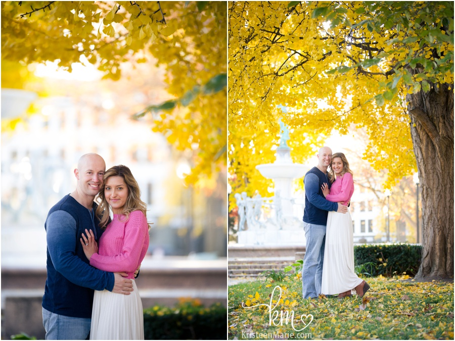 pink and blue couple photography