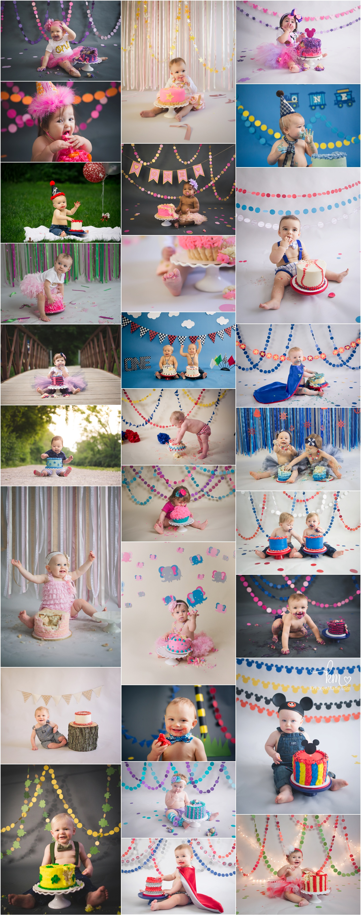 1st birthday photography in Indianapolis - cake smash session