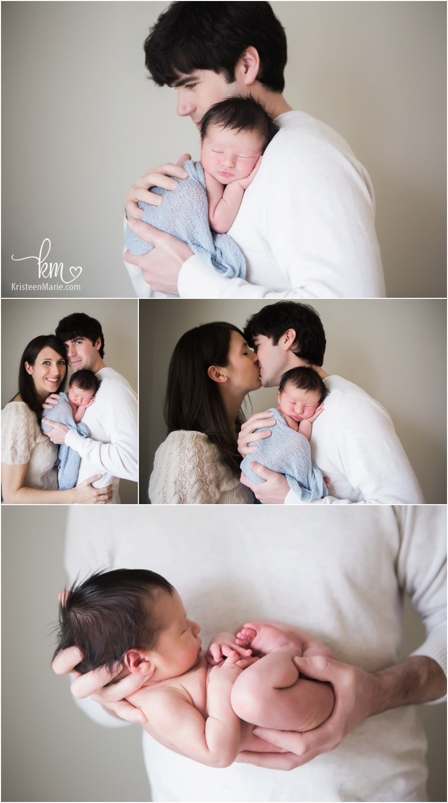 newborn family shots - love the cream and grey tones