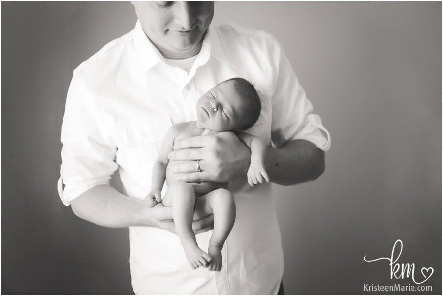 newborn and dad from Zionsville, IN