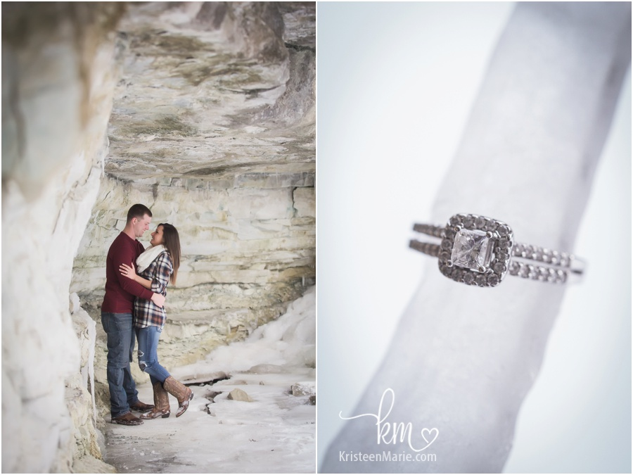 ice and diamonds - engagement photography