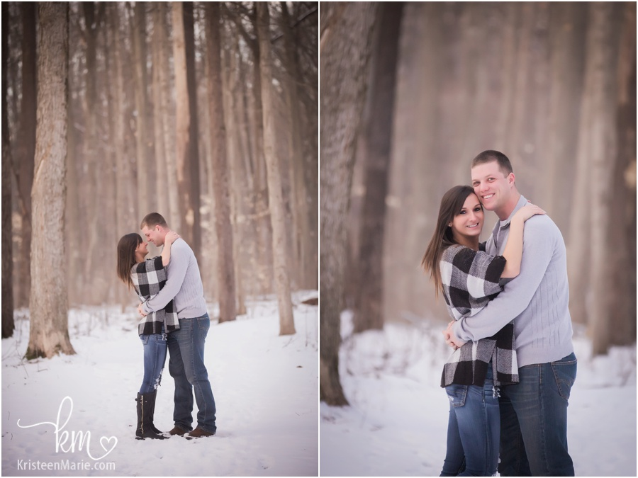 winter engagement photography in Indianapolis, IN