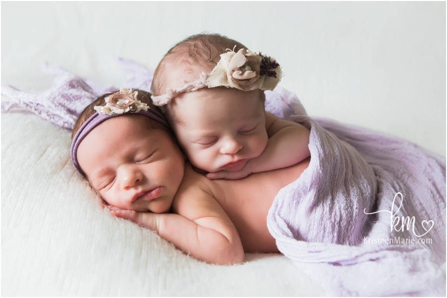 Newborn girls from Zionsville, IN photography