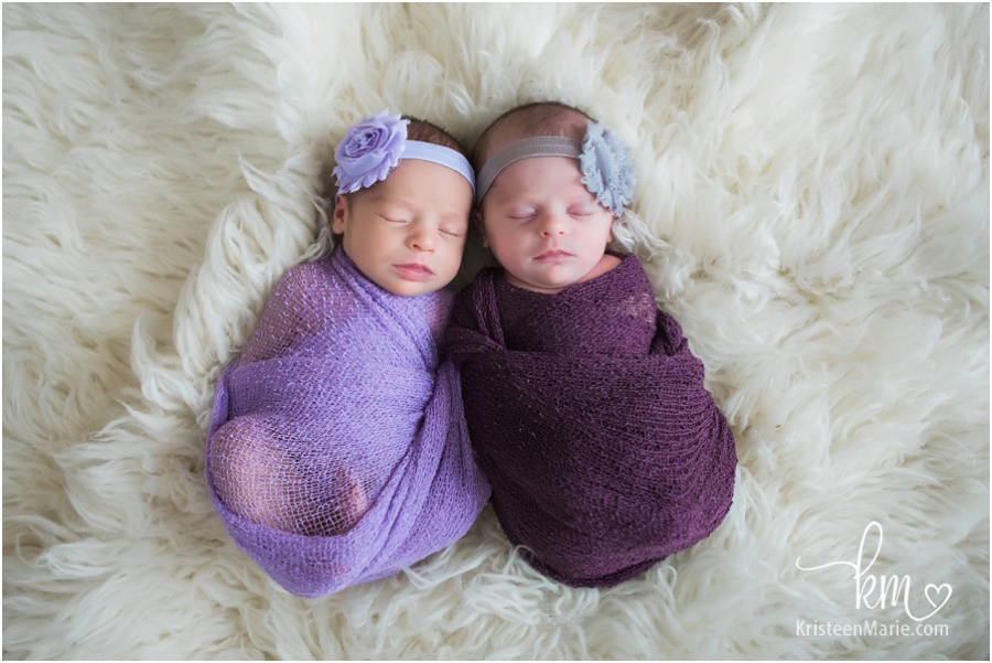 Newborn photography in Zionsville, IN - twin girls