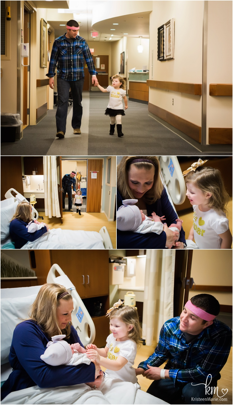 Sisters meeting for the first time in the hospital - Fresh 48 - priceless images!