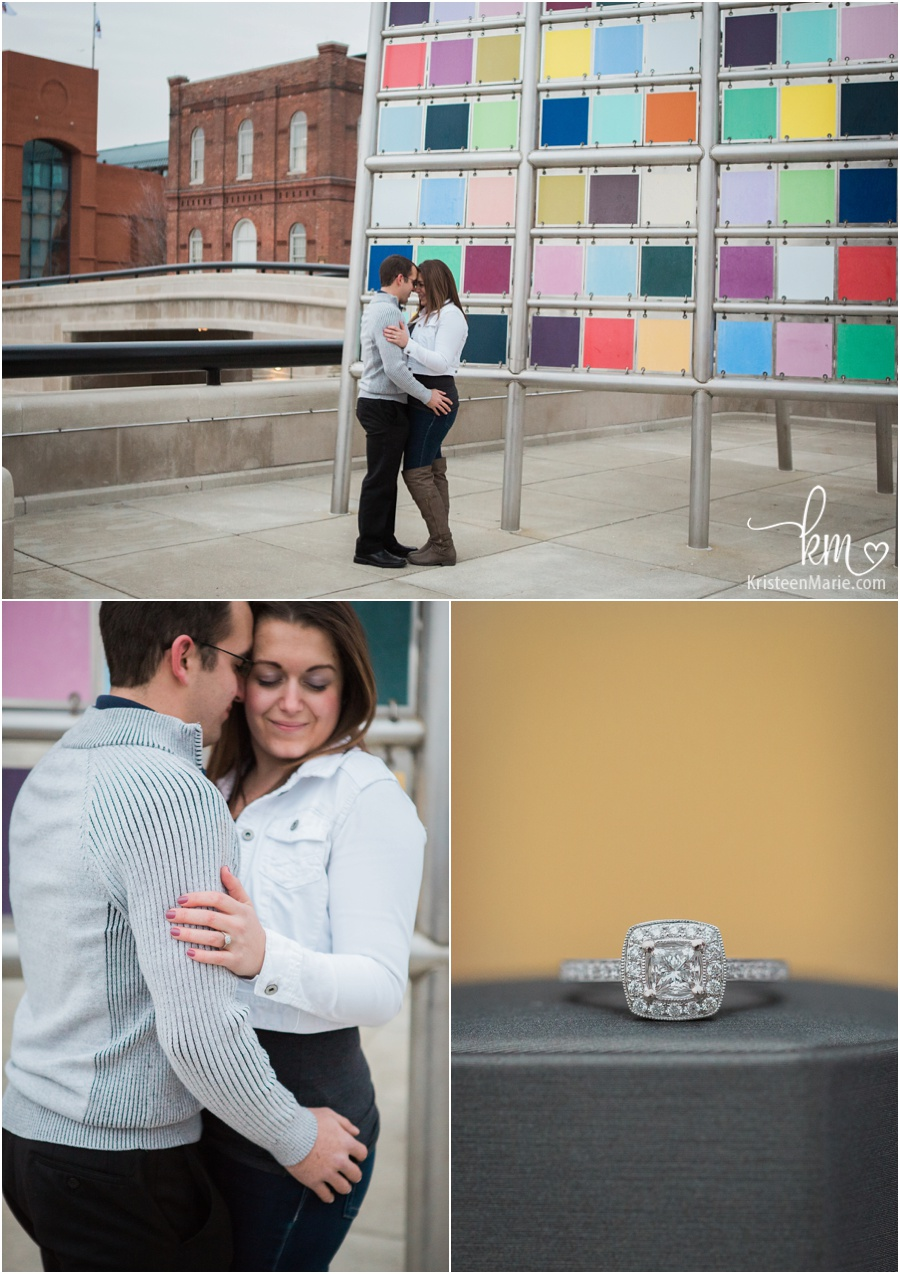 lots of colors with couple and ring